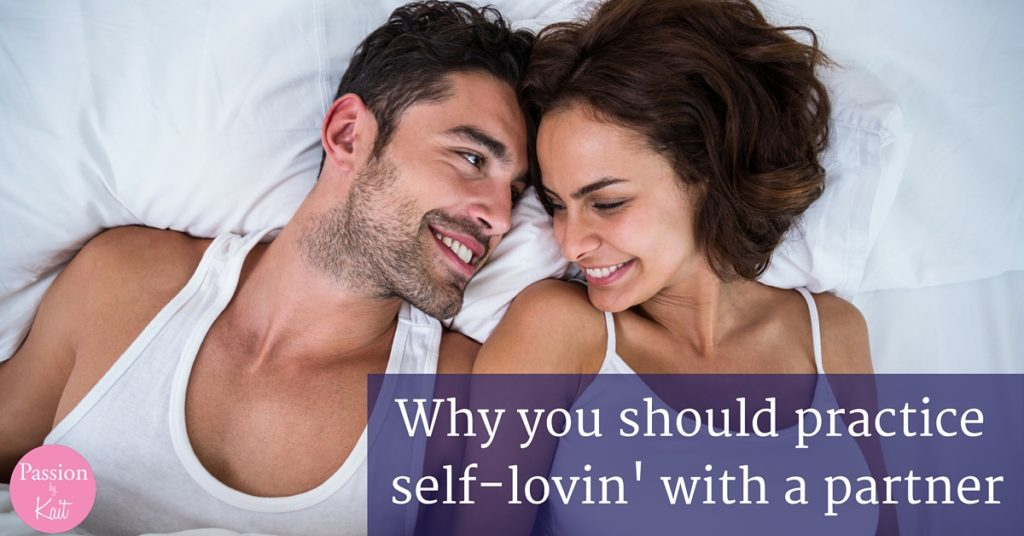 Two people laying next to each other in bed with their heads touching and smiles on their faces. | Photo for 6 Reasons to Try Mutual Masturbation - Why Masturbate Together